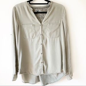 Holding Horses Relaxed Green Camp Utility Shirt S